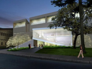 [Rendering of the front entrance]