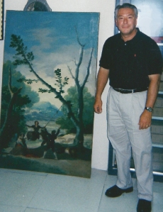 Wittman after saving Goya painting