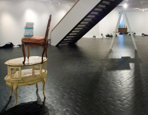 installation view of Mary Poppins at Blaffer